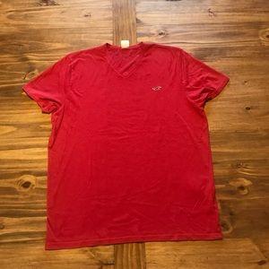Red Hollister v-neck t-shirt  Sz. XL